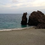 Huge rock on the Monterosso beach